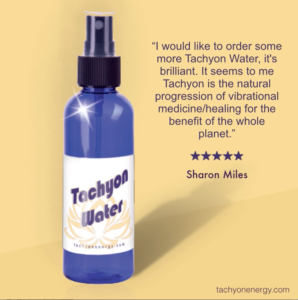 Tachyon Water